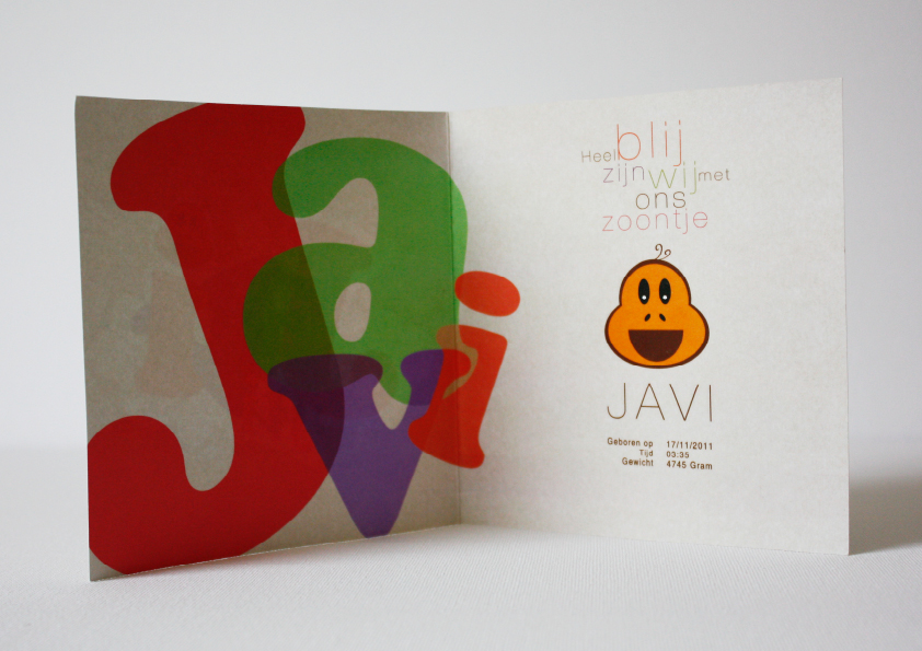 Geboortekaartje Javi