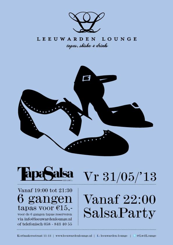 Poster Leeuwarden Lounge Tapasalsa