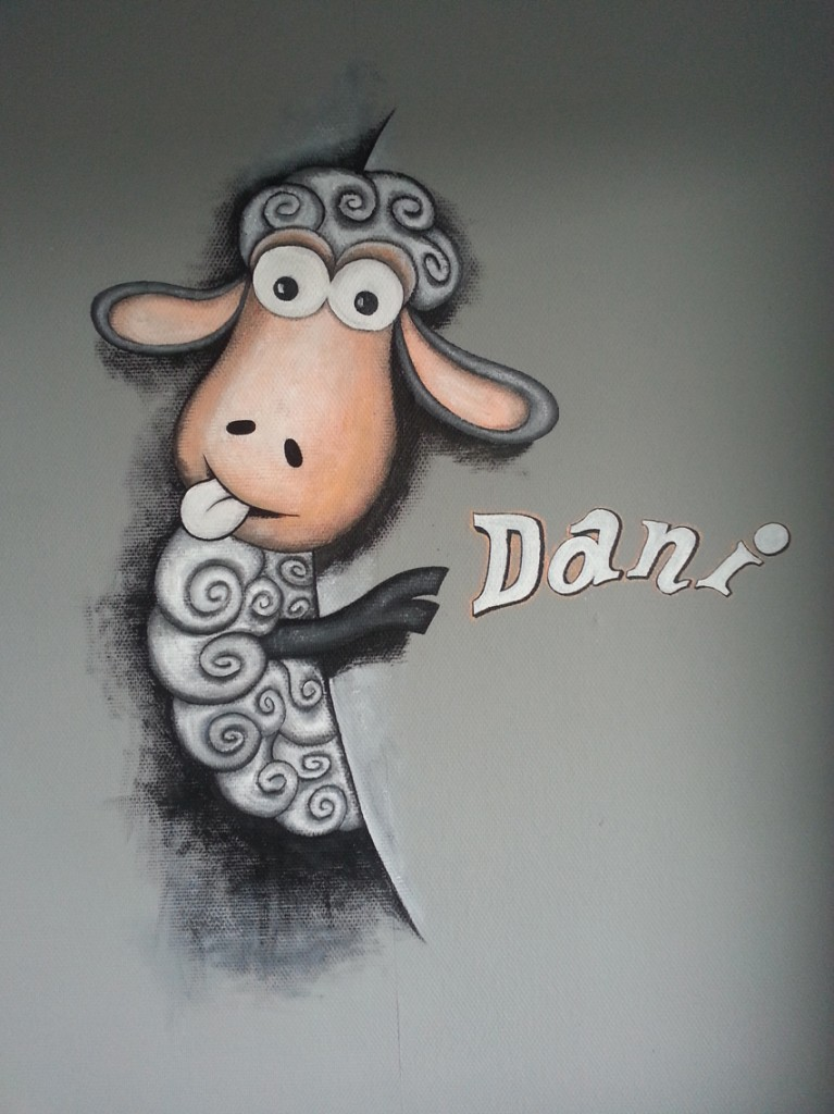 Muurschildering Dani