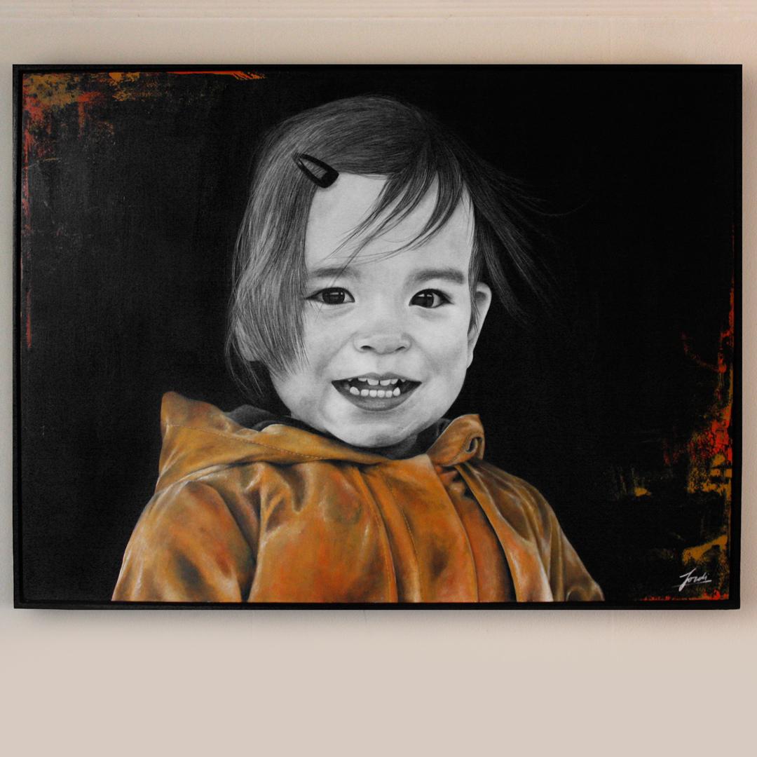 Schilderij Portret Alexia